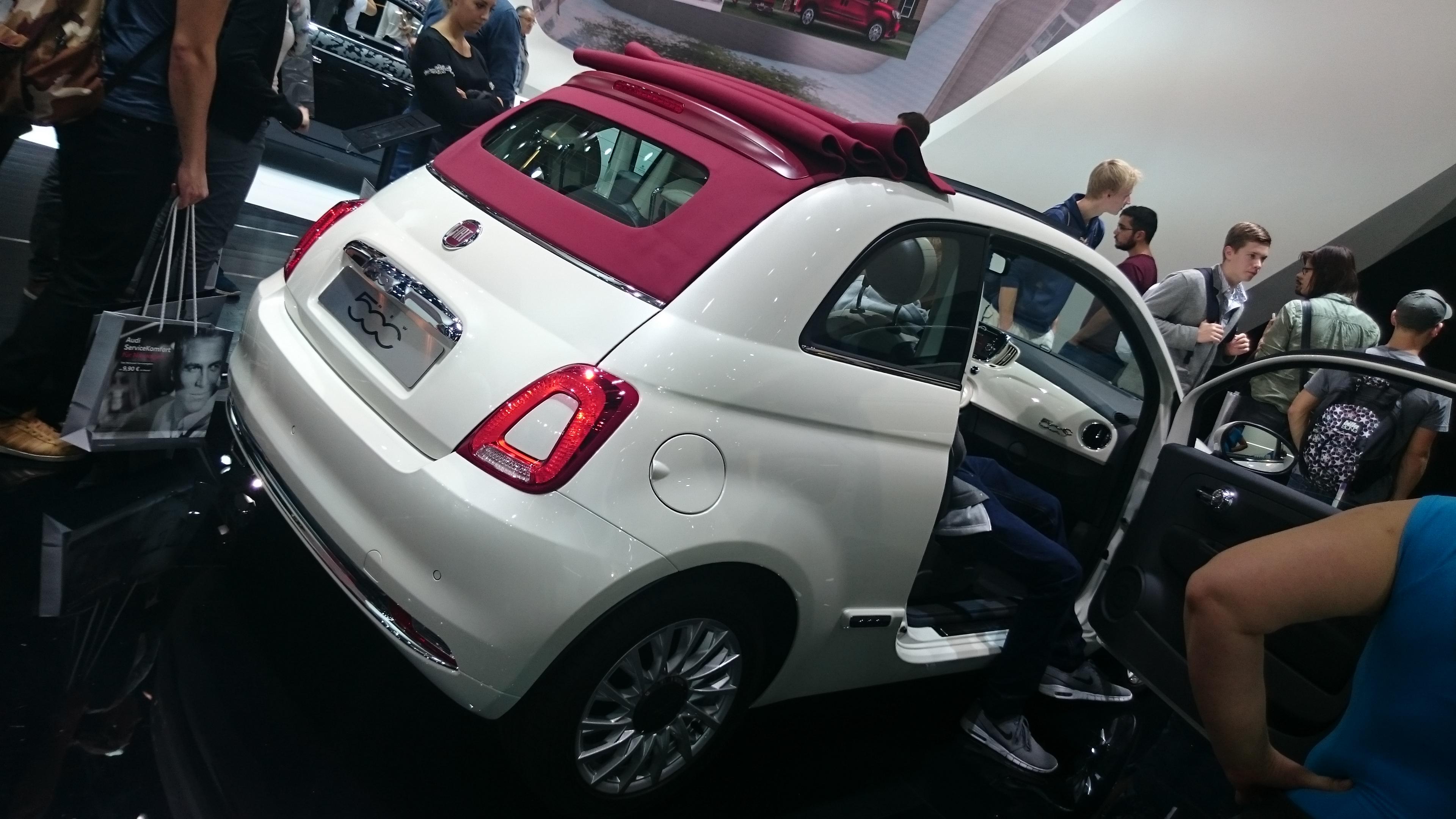 Foto normal Fiat 500 #VidePan en #IAA2015