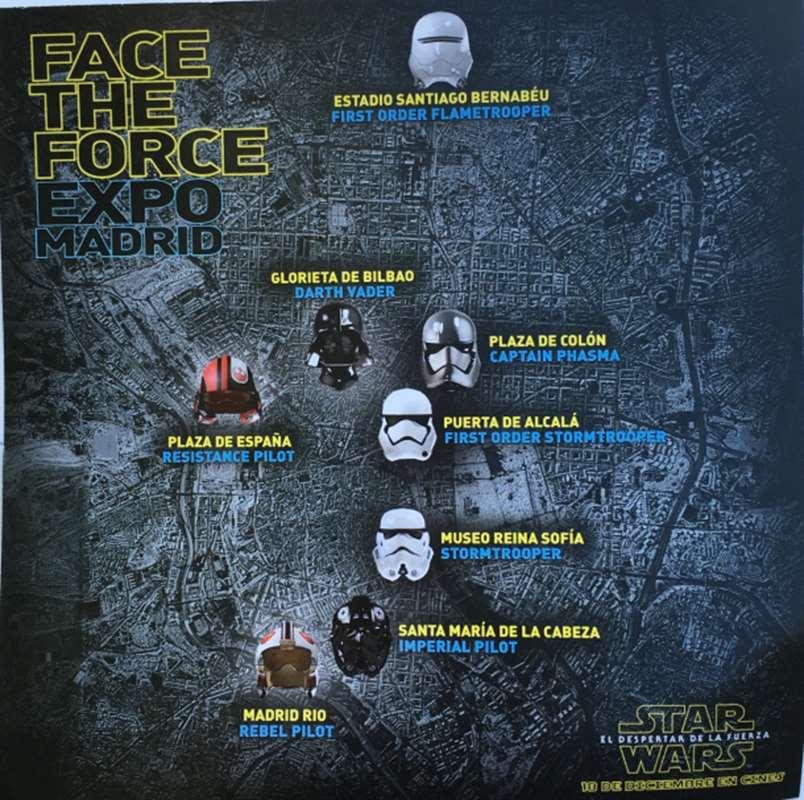 Fotos de cascos de Star Wars por #Madrid #Facetheforce #VidePan