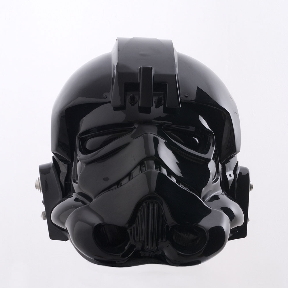 Fotos 360 del casco Imperial Pilot #VidePan #FacetheForce #StarWars #Madrid