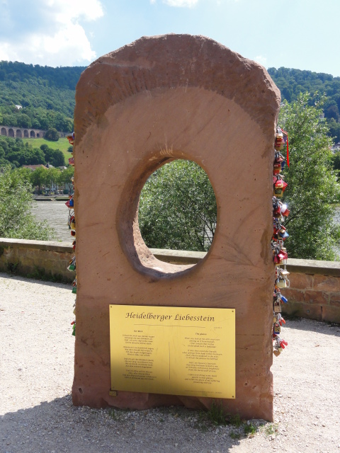 Fotos 360 Piedra del amor (Liebesstein) de #Heidelberg. #VidePan por #Frankfurt