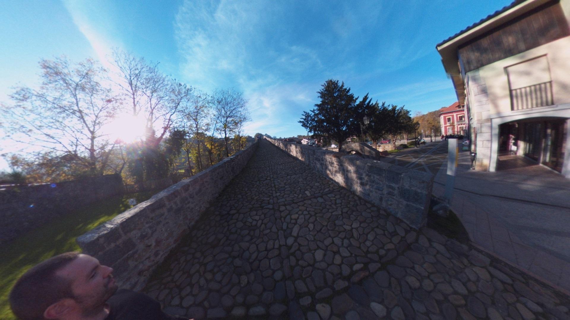 Fotos 360 Accesos del Puente Romano de Cangas de Onís. #VidePan por #Asturias