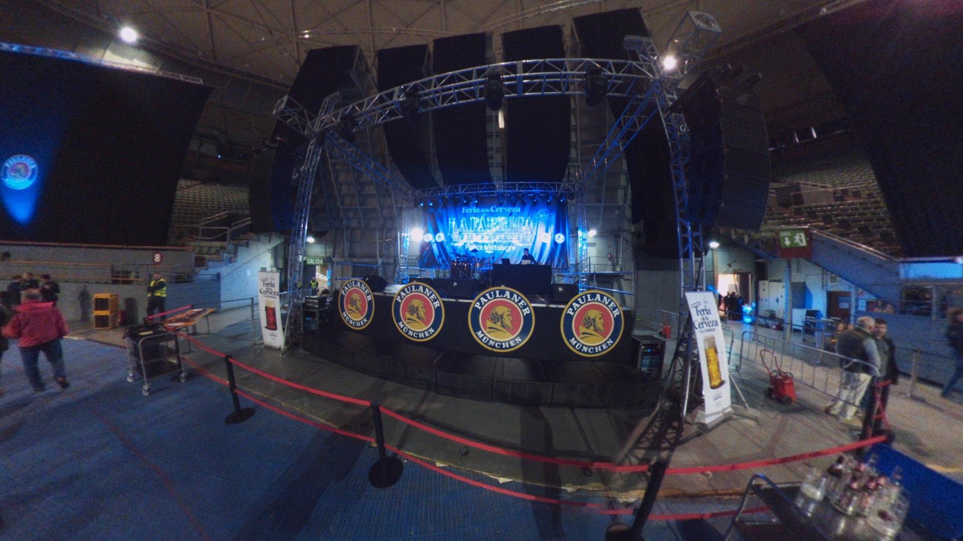 Fotos 360 Escenario de la feria de la cerveza.#VidePan en #FeriaCervezaMad