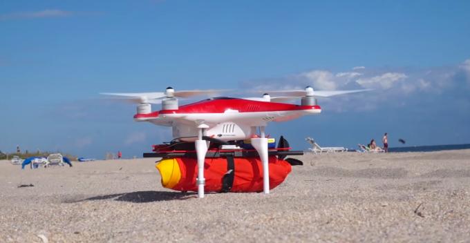 Salvavidas para drones. #VidePan protege sus drones del agua.