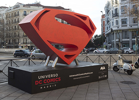 Fotos 360 Símbolo de Superman. #VidePan por #Madrid