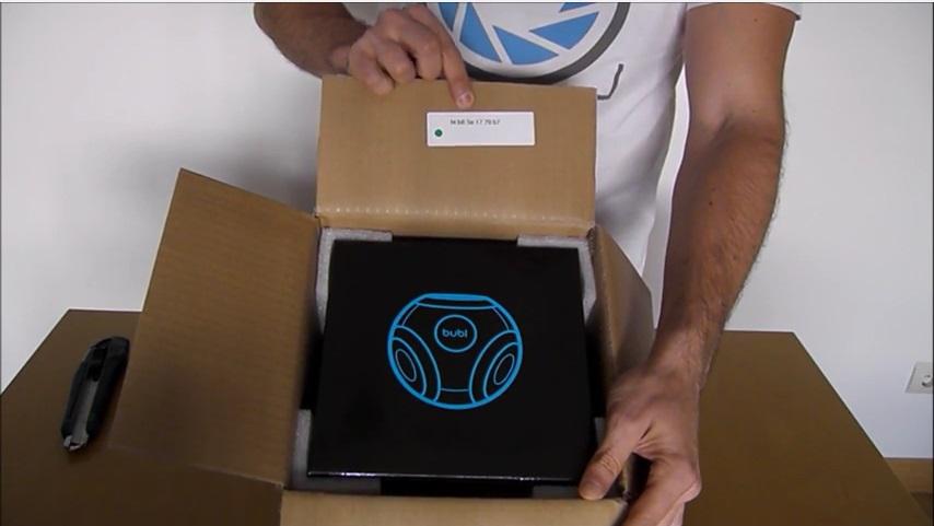 Vídeo Unboxing de cámara 360 Bublcam