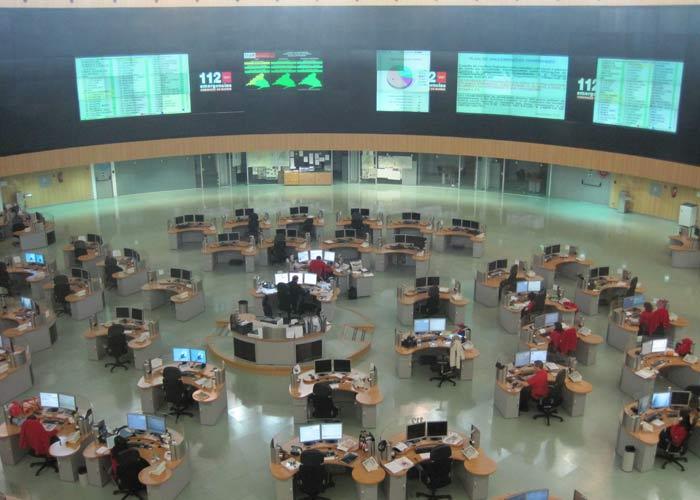 Foto 360 Sala de operaciones del @112cmadrid
