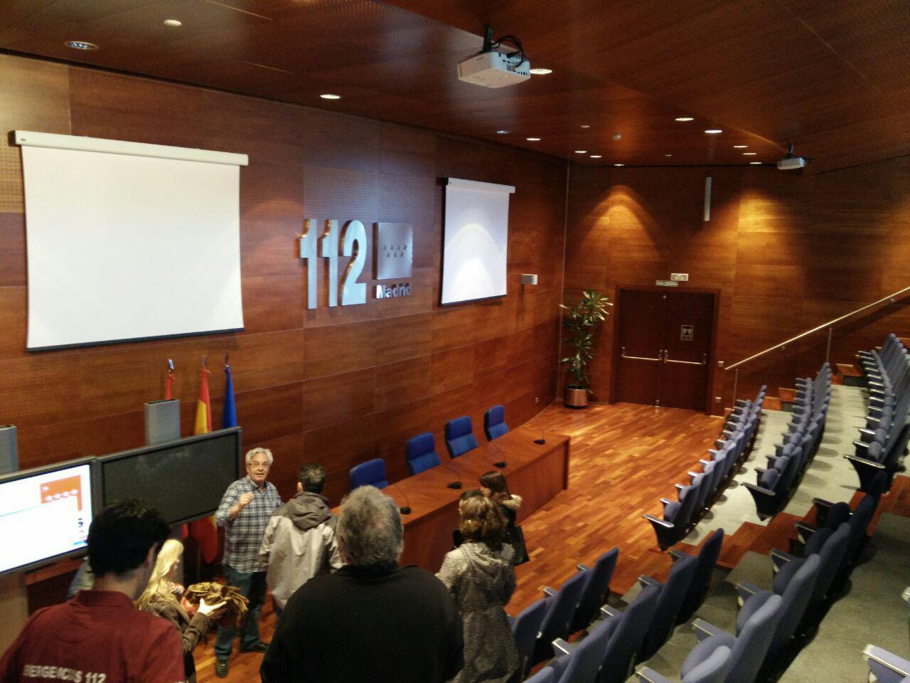 Fotos 360 Del Salón de actos de @112cmadrid