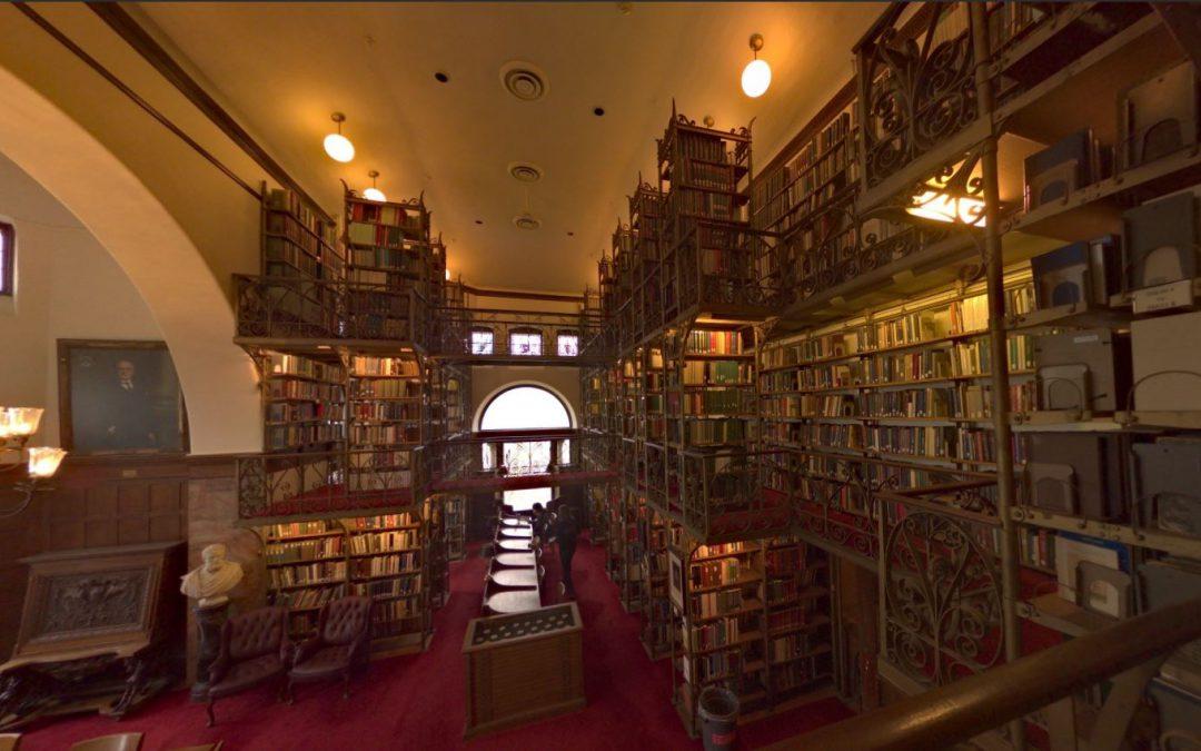 Foto 360 Sala de lectura Blanca.Biblioteca Uris
