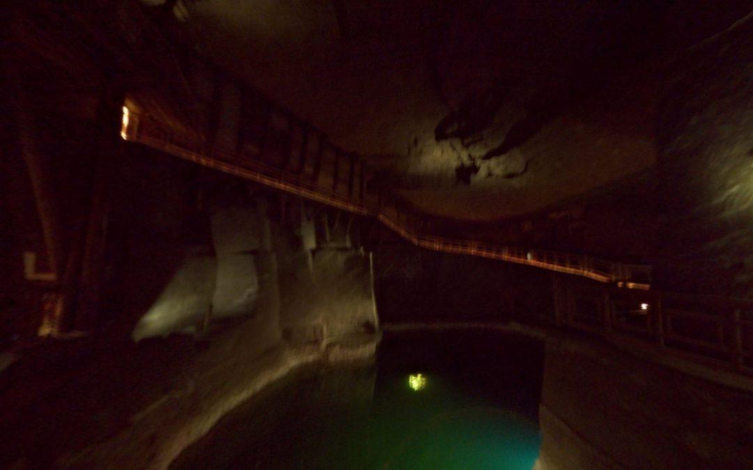 Foto 360 Cámara Baracz de las Minas de Sal de Wieliczka. VidePan en Polonia