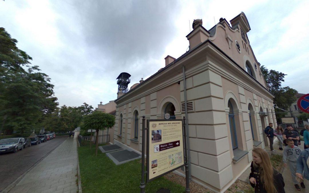 Foto 360 Salida de las Minas de Sal de Wieliczka. VidePan en Polonia