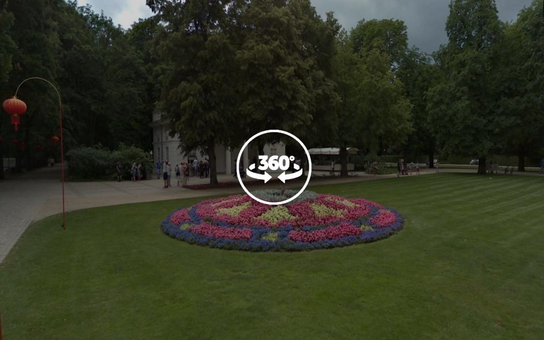 Foto 360 Decoración floral del Parque Lazienki. VidePan en Polonia