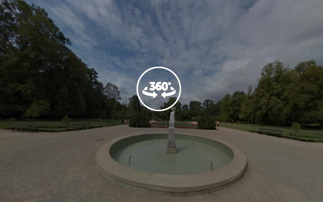 Foto 360 Escultura Amanecer del Parque Lazienki. VidePan en Polonia