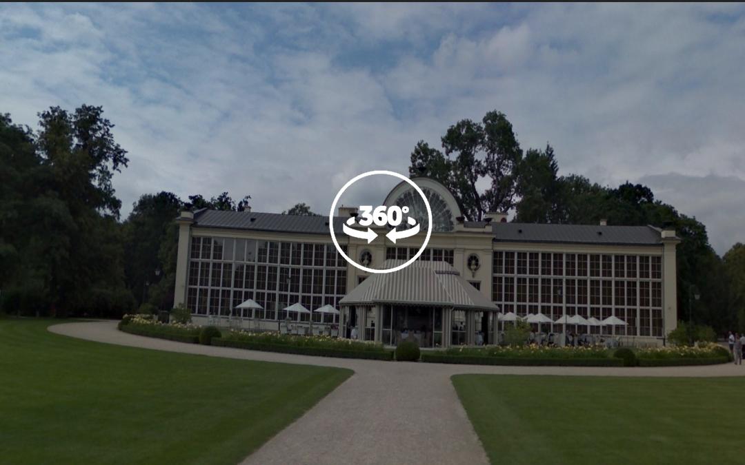 Foto 360 Fachada del nuevo invernadero real. VidePan en Polonia