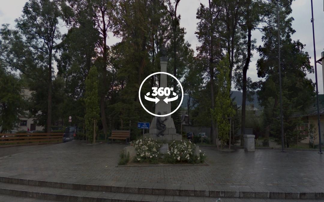 Foto 360 Monumento Grunwald (Jagiello) de Zakopane. VidePan en Polonia