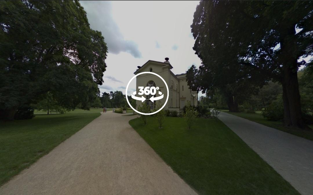 Foto 360 Nuevo invernadero Real del Parque Lazienki. VidePan en Polonia