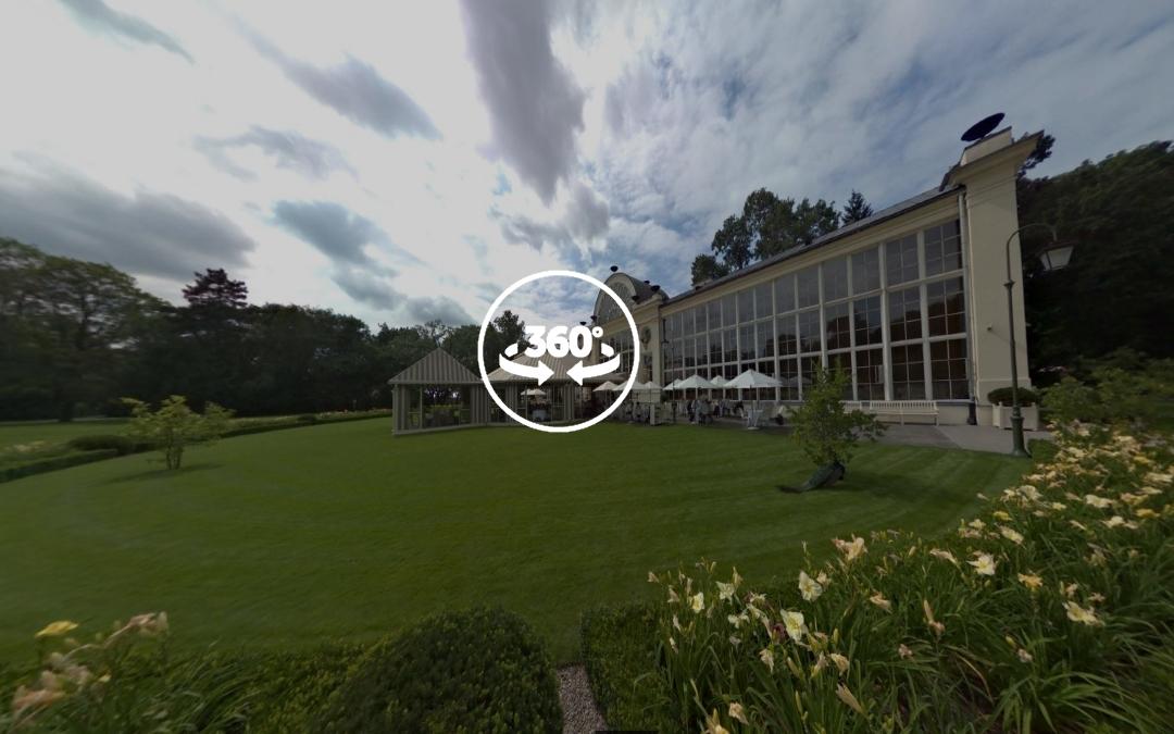 Foto 360 Restaurante del nuevo invernadero real. VidePan en Polonia