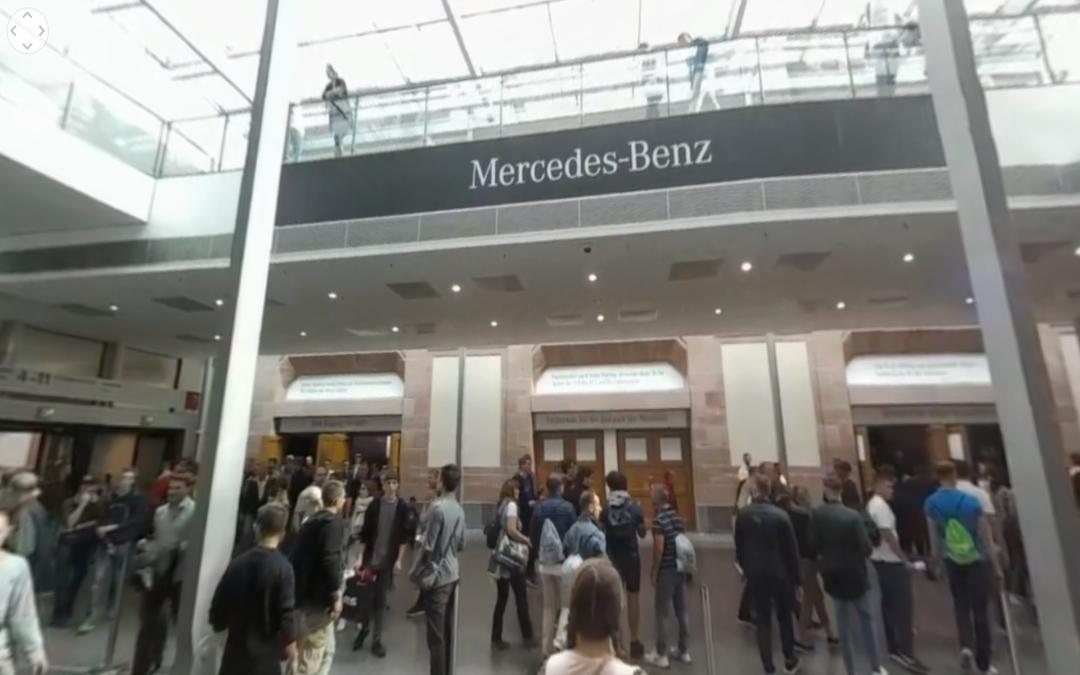 Entrada al stand de Mercedes-Benz del IAA 2017