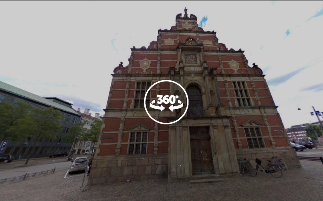 Foto 360 Antiguo edificio de la Bolsa de Copenhague. VidePan en Copenhague