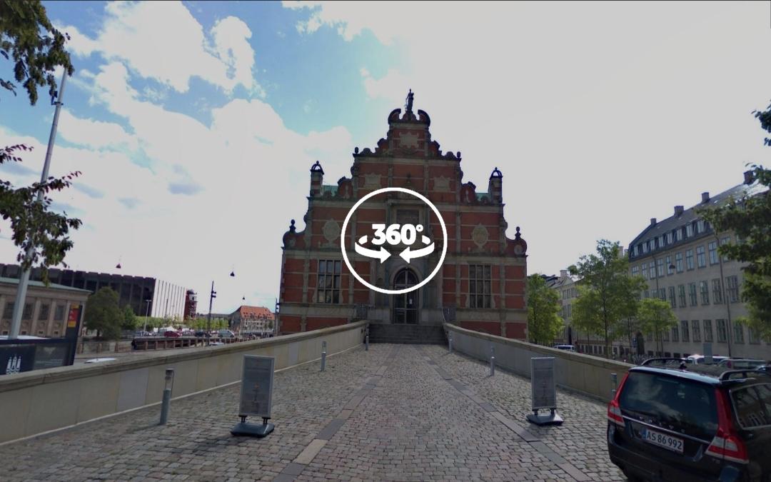 Foto 360 Børsen (la Bolsa de Copenhague). VidePan en Copenhague