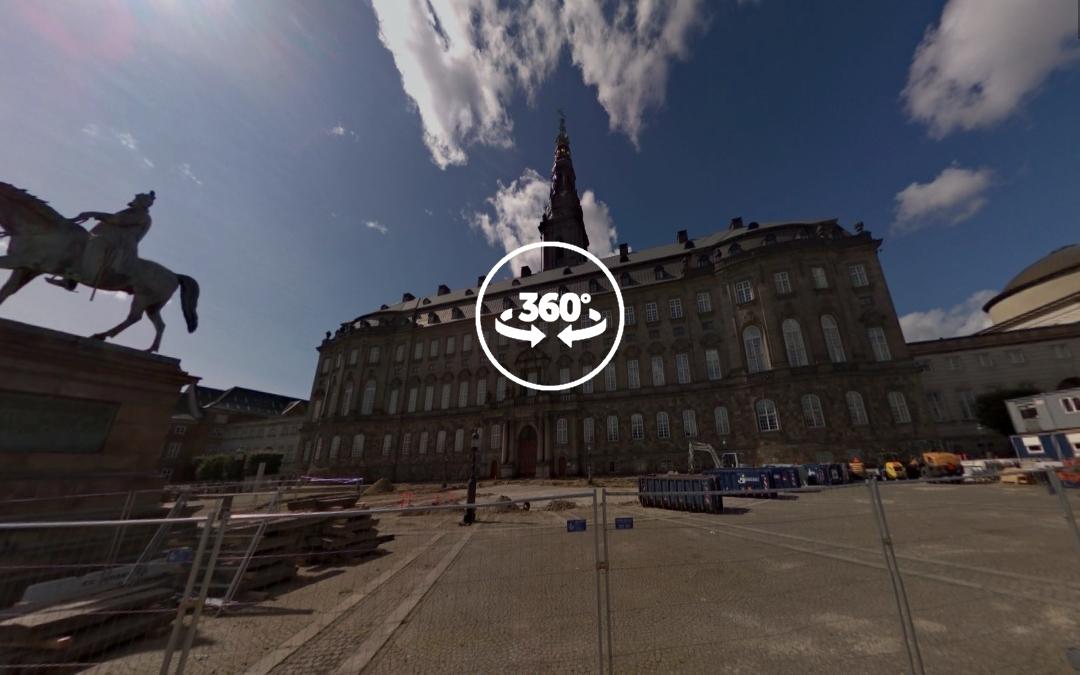 Foto 360 Christiansborg Slotsplads. VidePan en Copenhague