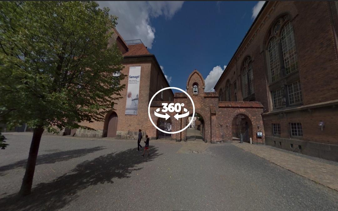 Foto 360 Salida del Dansk Jødisk Museum. VidePan en Copenhague
