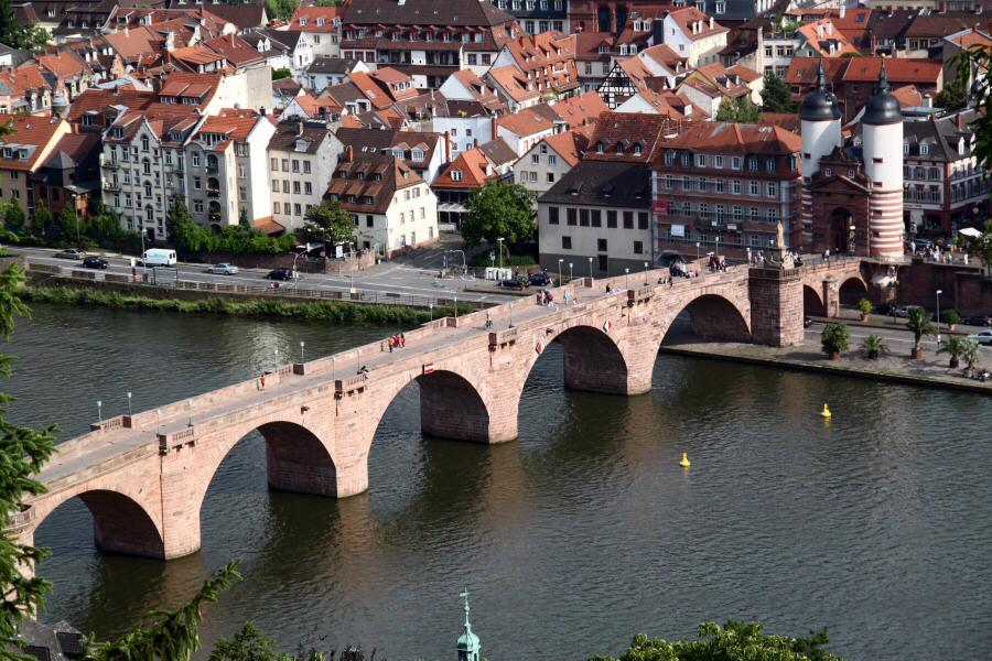 Fotos 360 desde los miradores del puente viejo de #Heidelberg. #VidePan por #Frankfurt