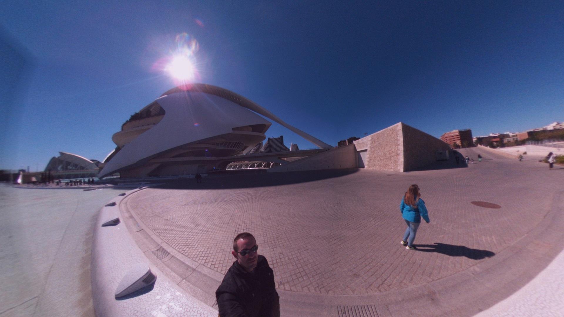 Fotos 360 Parte trasera del Hemisfèric. #VidePan por #Valencia