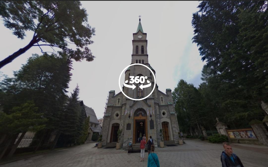 Foto 360 Iglesia de la Sagrada Familia de Zakopane. VidePan en Polonia