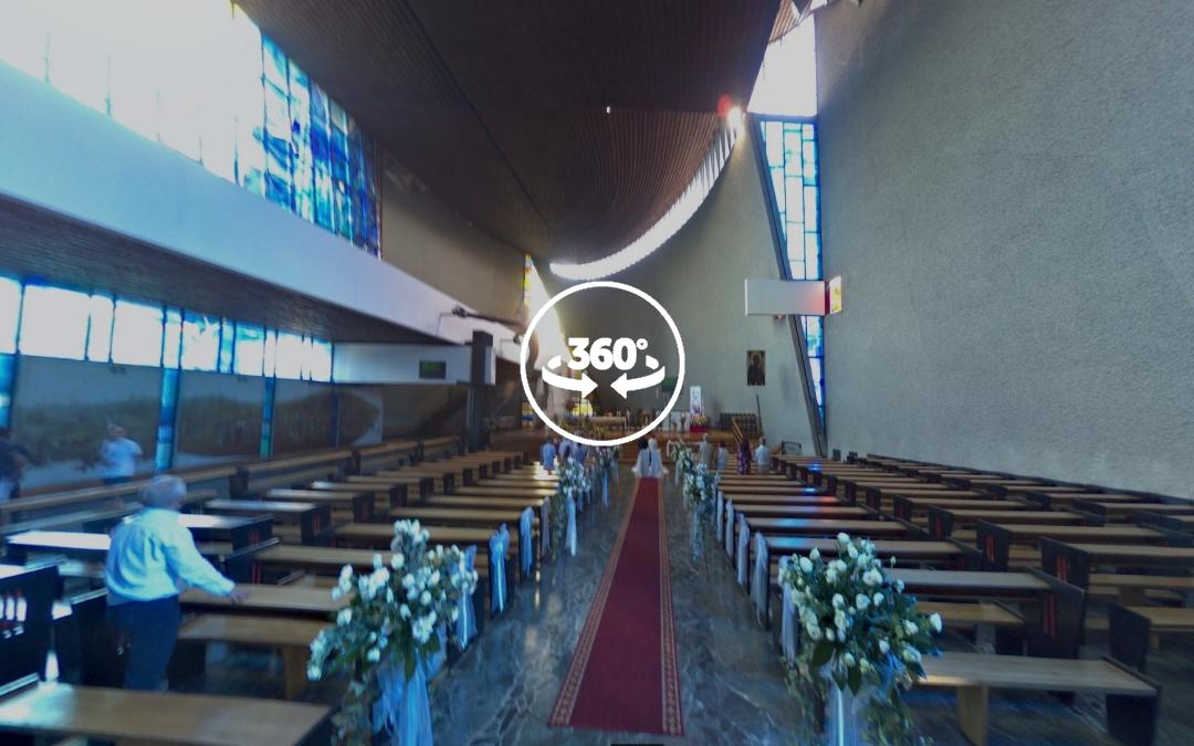 Foto 360 Interior de Parroquia de Nowa Huta. VidePan en Polonia