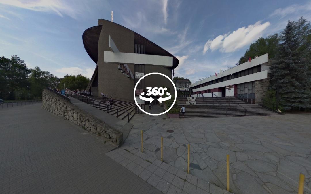 Foto 360 Parroquia de Nowa Huta en Cracovia. VidePan en Polonia