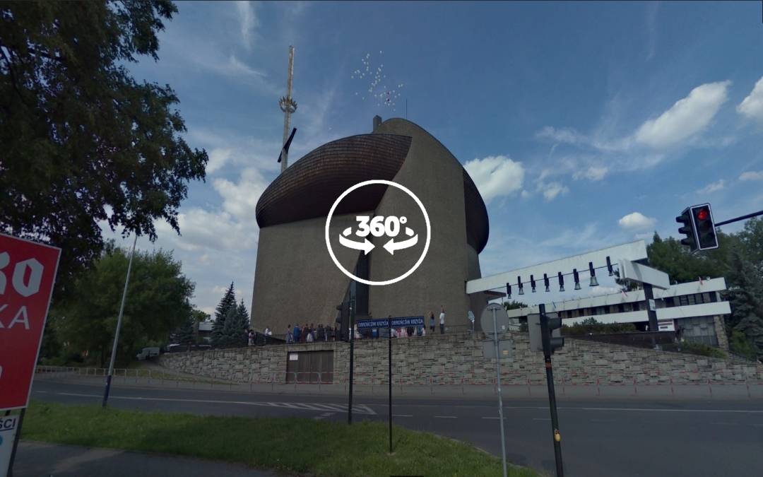 Foto 360 Parroquia de Nuestra Señora Reina de Polonia (Nowa Huta). VidePan en Polonia