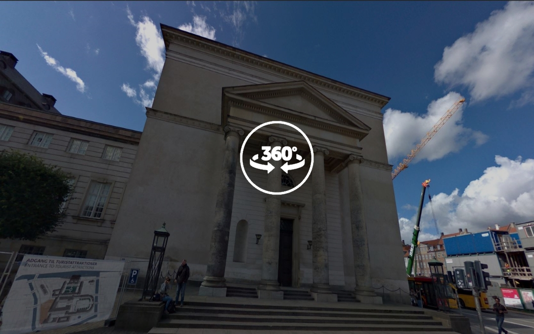 Foto 360 Christiansborg Slotskirke. VidePan en Copenhague