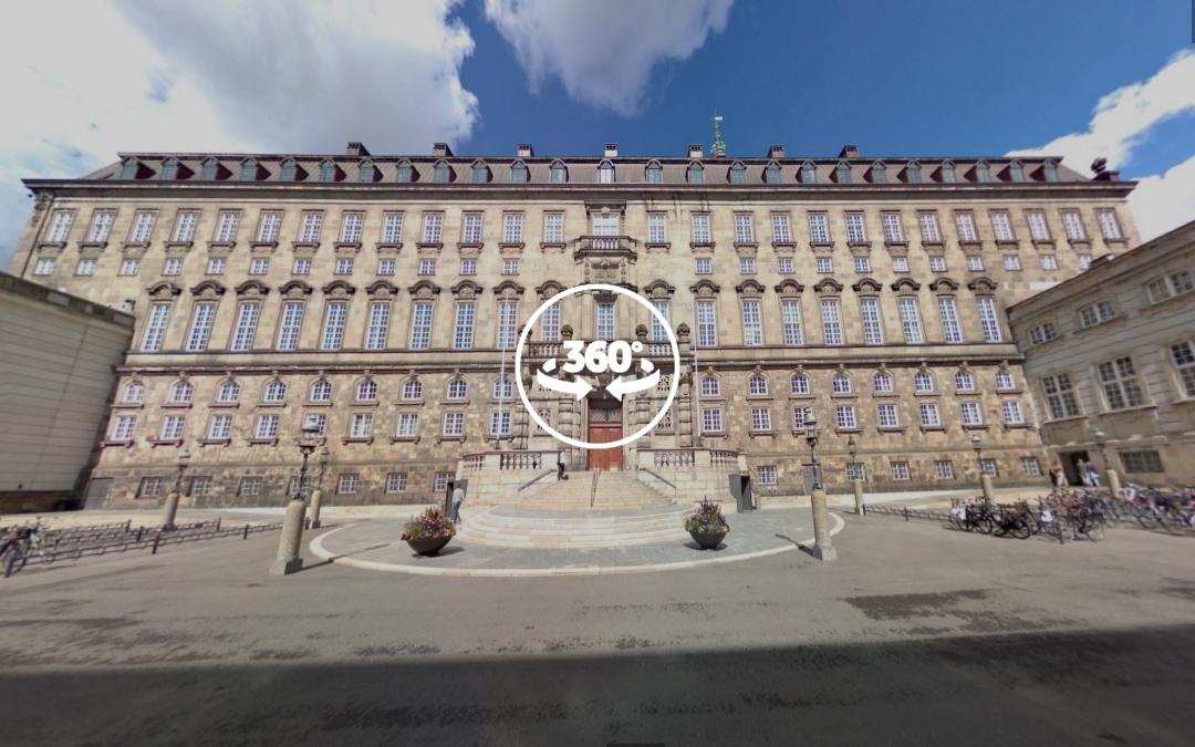 Foto 360 Folketinget. VidePan en Copenhague