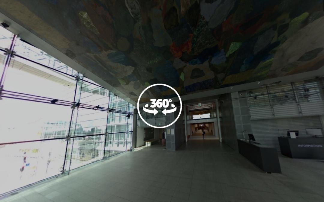 Foto 360 Planta superior de la Biblioteca Real danesa. VidePan en Copenhague