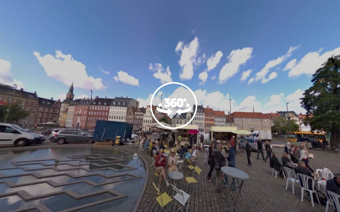 Foto 360 Street food en la Bertel Thorvaldsens Plads. VidePan en Copenhague